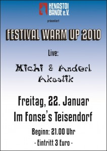 Plakat: Festival Warm Up im Fonses